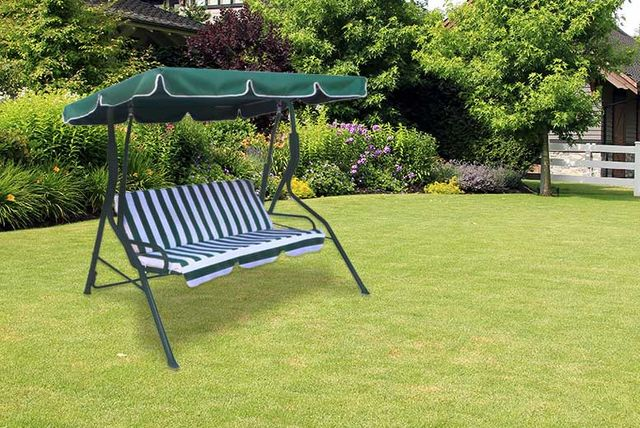3 seat swinging garden hammock  rh   livingsocial co uk