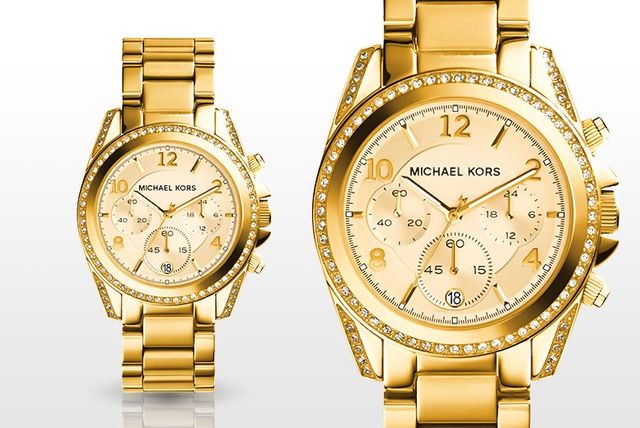 9914c7161 ... Gold-Tone MK5166 Watch. £109 instead of £223 (from Gray Kingdom) for a  ladies' Michael Kors MK5165 mini Blair watch - save 51%
