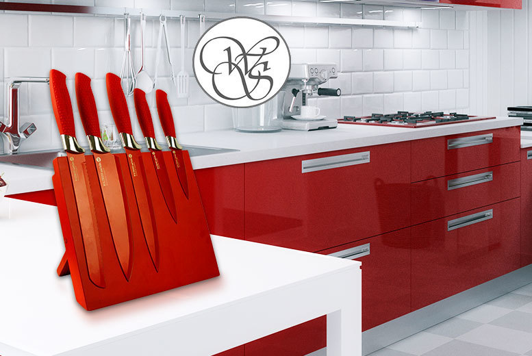 Image of £12 instead of £124.99 (from Direct2Public) for a six-piece magnetic culinary set and stand - save 90%
