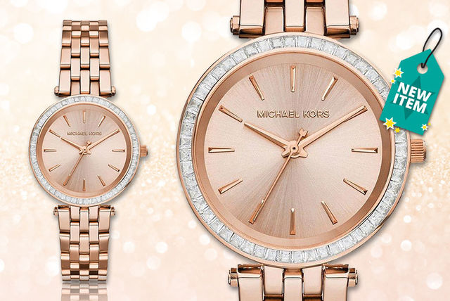 424951848ec3 £109 instead of £246 (from Gray Kingdom) for a ladies  Michael Kors MK3366  Mini Darci rose gold-tone watch - save 56%