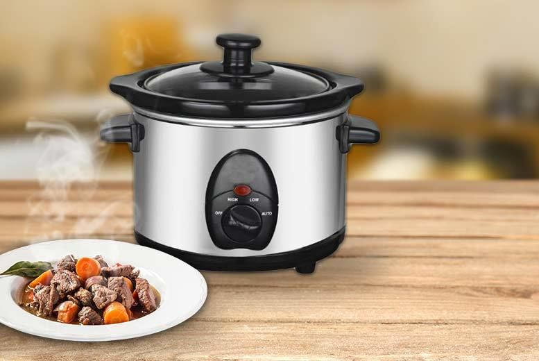 Image of £11.99 instead of £39.99 for a 1.5l stainless steel slow cooker from DIRECT2PUBLIK LTD - save 70%