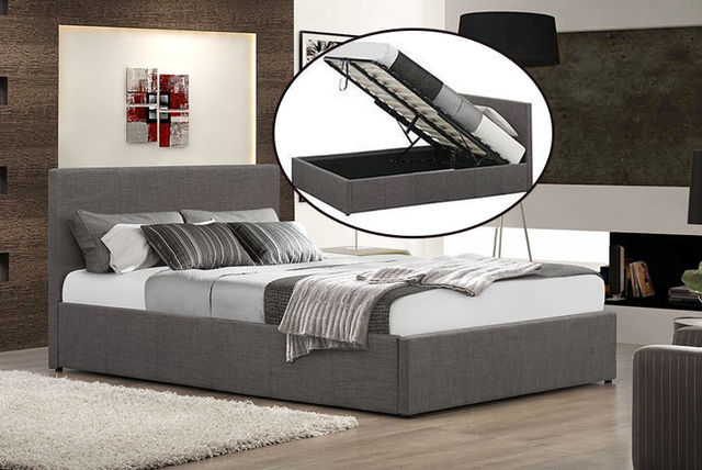 sold out - Fabric Ottoman Storage Bed - Optional Mattress!
