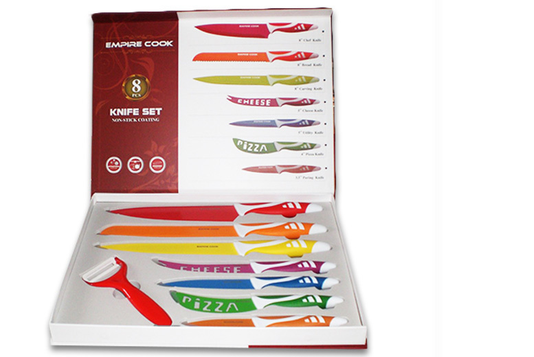 Image of From £7.99 for a six piece or eight piece colourful kitchen knife set from Bright Associate Doctor Limited - save up to 80%