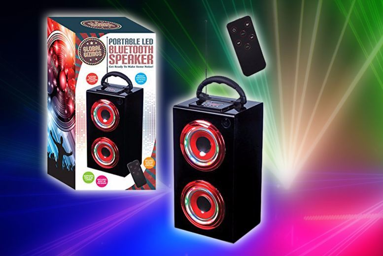 Image of £12.99 instead of £27.99 for an LED light up portable speaker from Ckent Ltd - save 54%