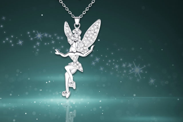 Crystal fairy pendant necklace aloadofball Image collections