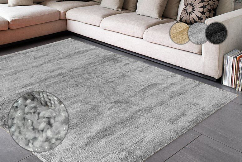 Image of From £12.99 instead of £67 (from U Are Home) for a thick luxury shaggy rug - choose from three sizes and three colours and save up to 81%