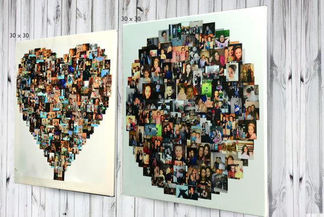 Personalised Photo Collage 3 Shapes 4 Sizes Shopping