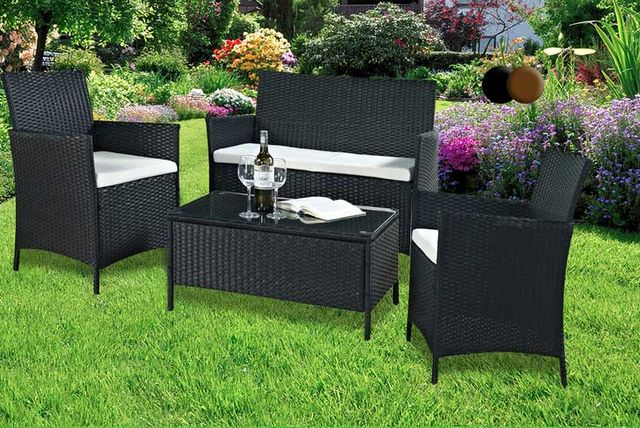 4pc rattan furniture set 2 colours