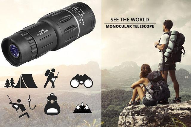 Dual focus zoom monocular telescope shopping livingsocial