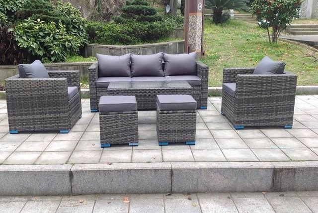 Grey Rattan Garden Furniture Uk 7 seater rattan outdoor furniture set 3 colours workwithnaturefo