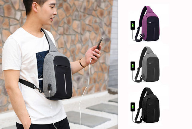 c7f6d77930 Anti-Theft Shoulder Bag with Charging Port