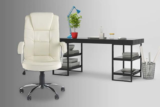 Premium Office Swivel Chair - White