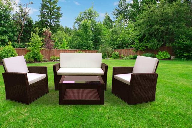 Garden Furniture Colours 4pc roma rattan garden furniture set & cushions - 2 colours!