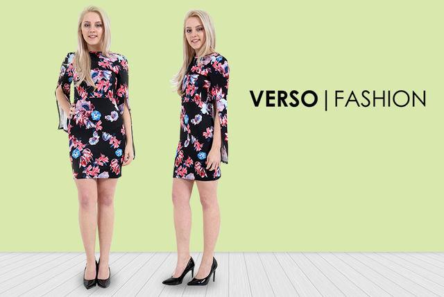 88da2a7a17 Floral Cape Sleeve Dress - 4 Sizes!   Dresses deals in Shopping ...