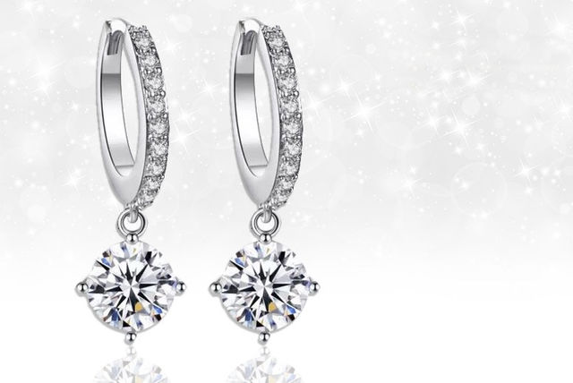 960a300ae73b44 £12 instead of £89.99 (from Gemnations) for a pair of single drop earrings  Made with Crystals from Swarovski ® - save 87%