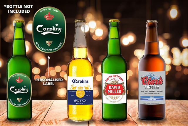 4 Personalised Beer Cider Labels Home Garden Deals In Shopping