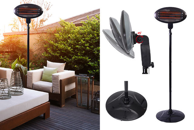 Freestanding Or Wall Mounted Electric Patio Heater! | Shopping |  LivingSocial