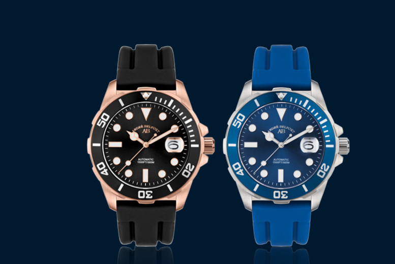 £179 instead of £1475.13 (from Rotatio) for an André Belfort automatic diver's watch - save 88% + DELIVERY IS INCLUDED!