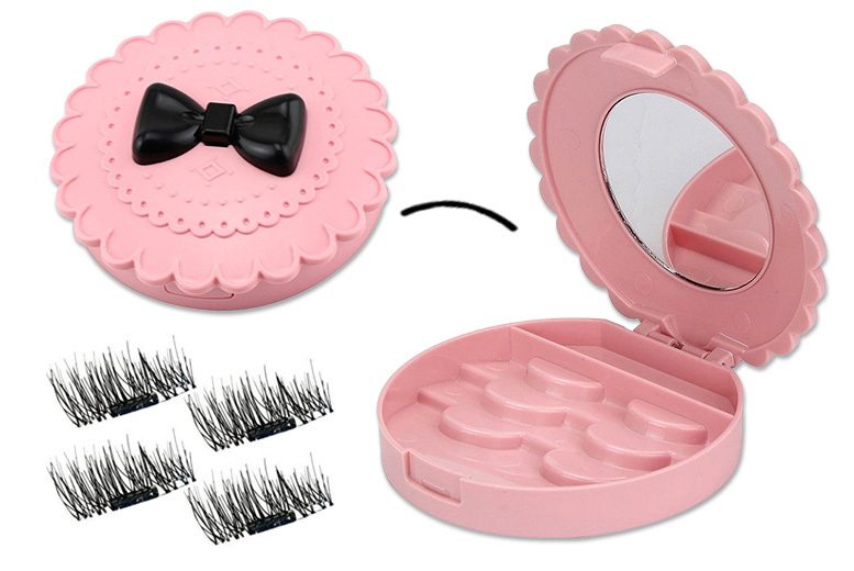 £5.99 instead of £17.99 (from Forever Cosmetics) for an eyelash storage case with mirror and four sets of magnetic eyelashes – save 67%