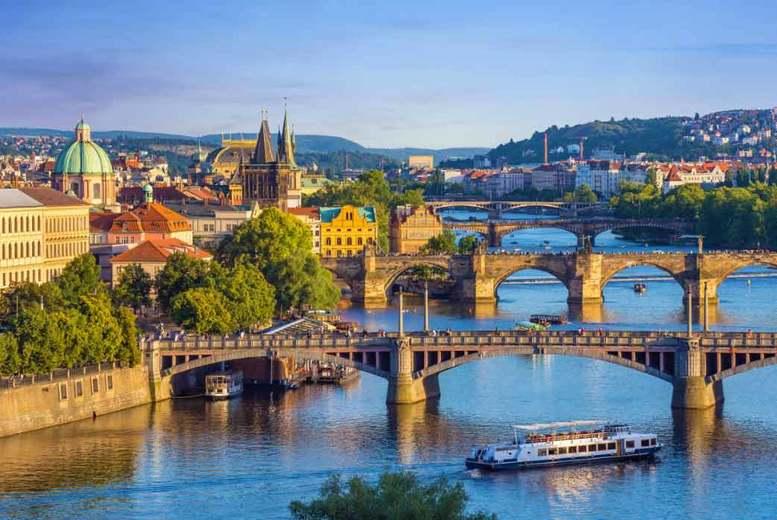 2-3nt Prague City Getaway, Flights & Vltava Sightseeing River Cruise