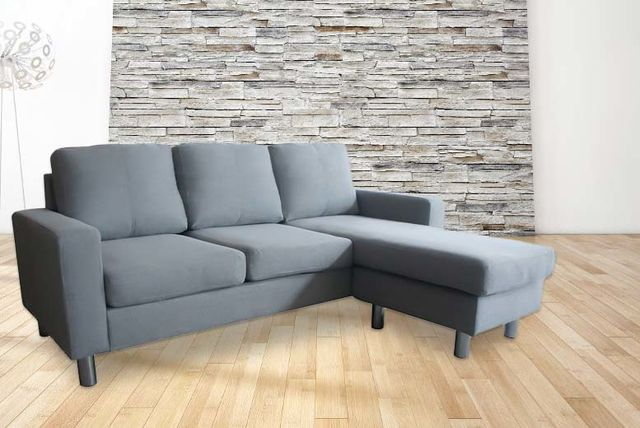 Fabric L-Shaped 3-Seater Corner Sofa