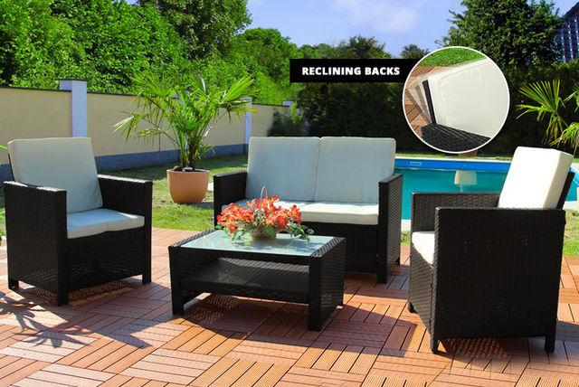 Miami Rattan Lounge Set Shopping Livingsocial