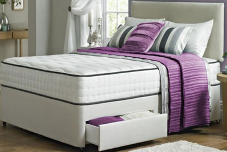 Image of From £119 (from Dining Tables) for a single Taylor divan bed with memory foam mattress, £149 for a small double or double, £189 for a king or £229 for a superking - choose from five sizes and two colours save up to 75%