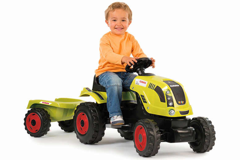 £59 (from Smoby) for an XL pedal tractor and trailer - save 51%