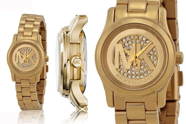 75cbe91ee233 €189 instead of €452.83 (from mimo deals) for a MK3304 Michael Kors runway  champagne gold tone - save 58%