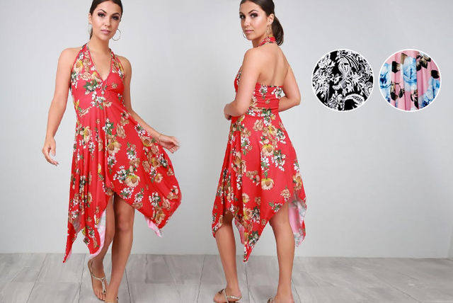 9ebd45da3f759 Halterneck Flower Dress | Shopping | LivingSocial