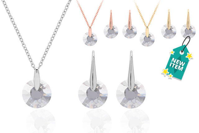 739ba20bb £14 instead of £76.01 (from Lily Spencer London) for a crystal effect  necklace and earrings set