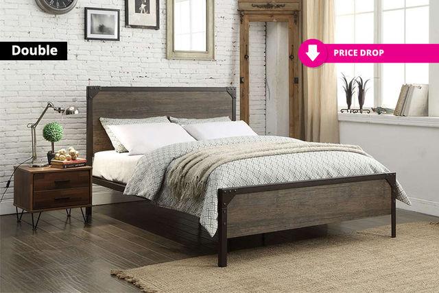 Metal Wood Bed Frame Shopping Livingsocial