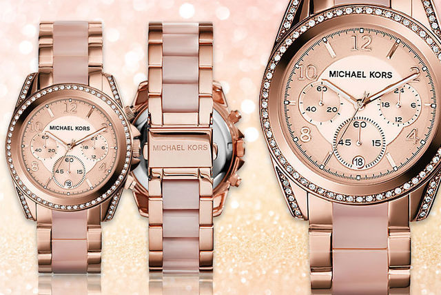 83ea7f9ea49e €129 instead of €311.07 (from Hip Watches) for a ladies  Michael Kors  MK5943 rose-gold plated watch - save 59%