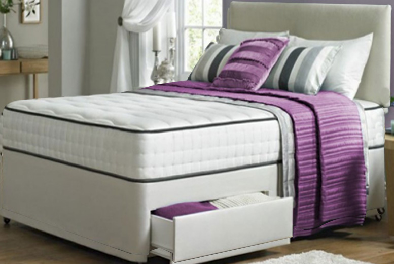 Image of From £109 instead of £469.01 (from Dining Tables) for Taylor divan bed set and mattress - choose from a range of sizes and drawer options and save up to 77%