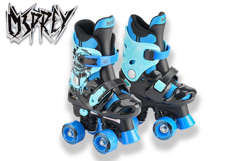 £16 instead of £36 (from Eurotrade LTD) for a pair of Osprey electric blue Kids quad roller skates – save 56%