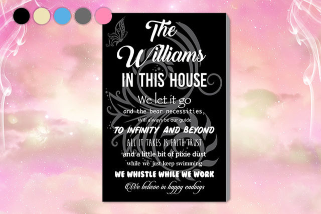 04e04666cda10 Disney-Inspired Personalised House Rules Canvas | Canvas/Art/Accessories  deals in Shopping | LivingSocial