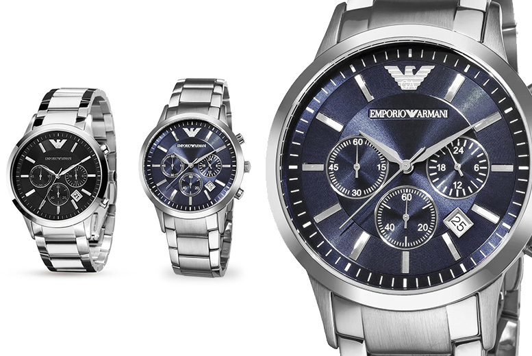 £109 instead of £319 (from Hip Watches) for an Armani Men's watch - choose from two designs and save 66%