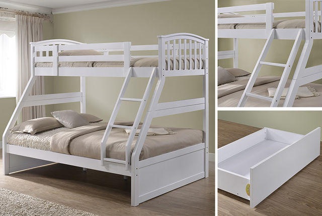 Wooden 3 Sleeper Bunk Bed Beds Mattresses Deals In London