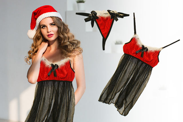 39ed441ec £8.99 instead of £37 (from Fifty Shades of Lust) for a Christmas baby doll  set - save 78%. deal over!