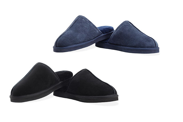 0e7f69a2a428 Mens Sheep Lined Slippers