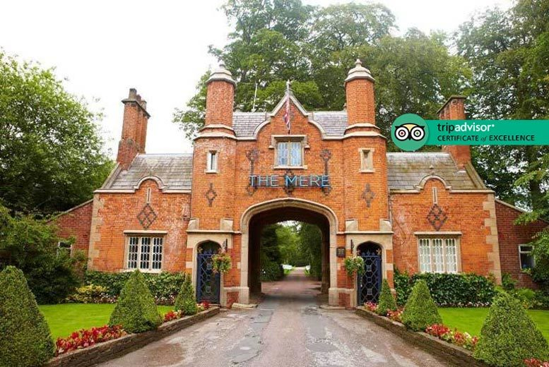 4* The Mere Golf Resort & Spa Escape, Dining & Gin Drink for 2