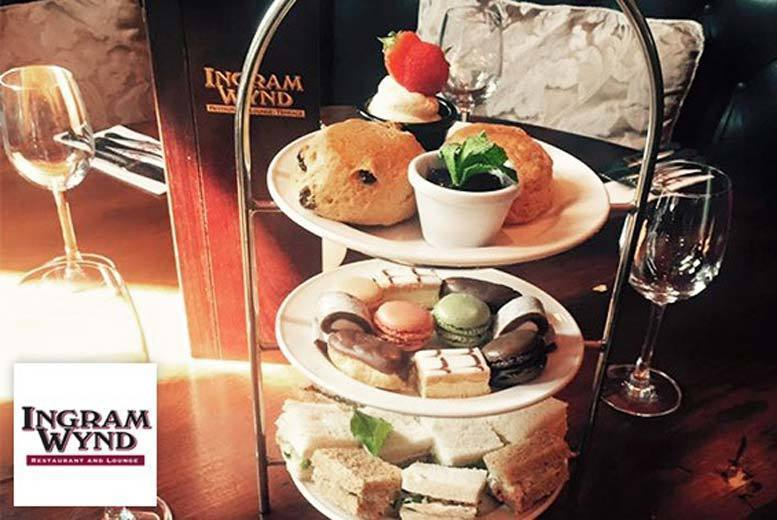 £14 instead of £28 for afternoon tea for two people, £21 to include a glass of Prosecco each at Ingram Wynd, Glasgow city centre – save up to 50%