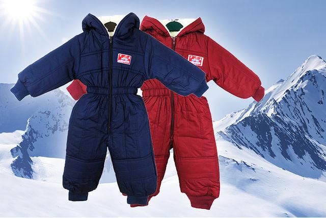 b90f03370dbc Hooded Kids  Winter Snowsuit