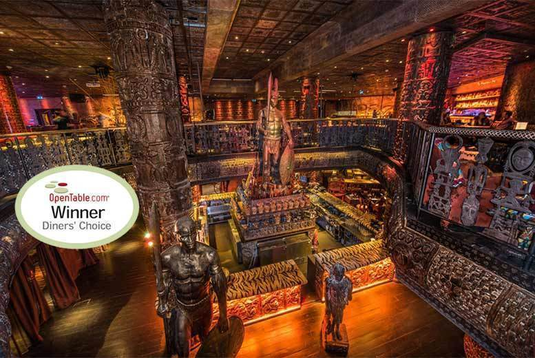 £49 instead of up to £137 for a three-course meal with a sparkling cocktail each and club entry for two people at celebrity hangout Shaka Zulu, Camden Town – save up to 64%