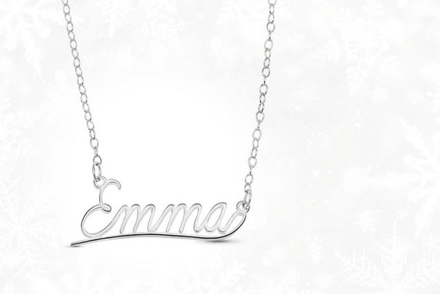 Sterling Silver Name Necklace | Jewellery deals in Shopping
