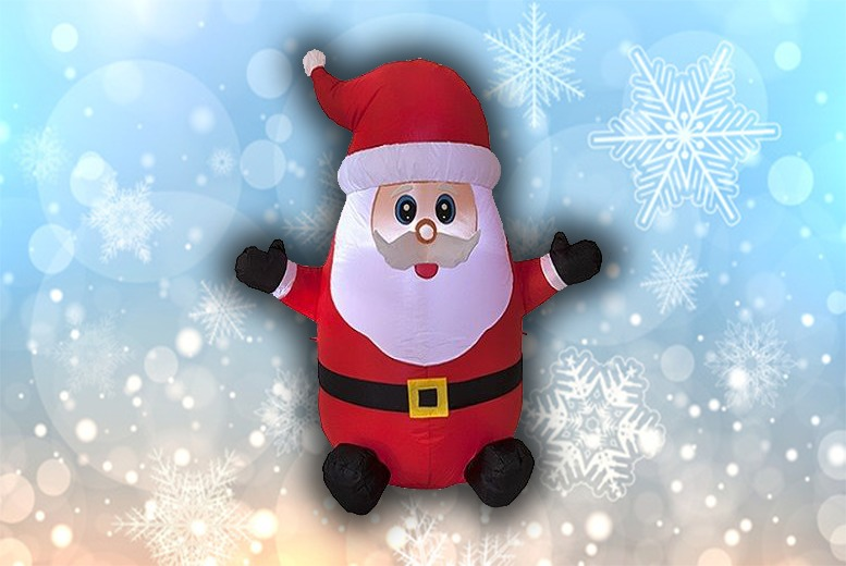 Image of £19.99 instead of £42.99 for a 120cm inflatable LED Santa from Ckent Ltd - save 54%