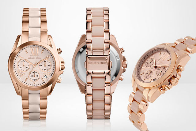 a9db7a8cb04 €135 instead of €312.92 (from Ticara Watches) for a Michael Kors MK6066  Bradshaw ladies chronograph watch - save 57%
