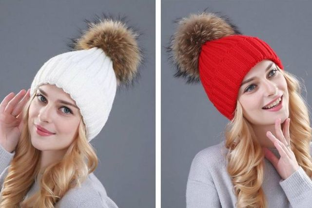 cf2bc494e1f £3.99 instead of £30 for a faux fur pom-pom hat - choose from four colours  from Boni Caro - save 87%