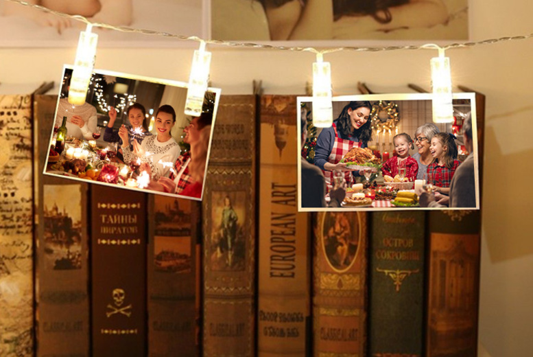 Image of From £2.99 instead of £29.99 (from WowWhatWho) for a set of LED photo clip fairy lights - save up to 90%