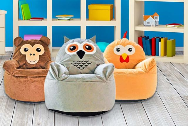 Kids Animal Beanbag Chair